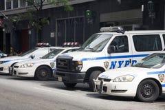 Vehículos policiales de Nueva York Imagen de archivo libre de regalías