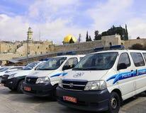 Vehículos policiales israelíes Fotos de archivo libres de regalías