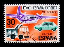 Vehículos, serie de las exportaciones, circa 1981 imagenes de archivo