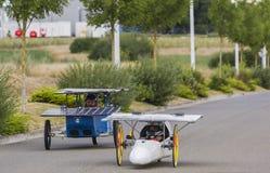 Vehículos solares - taza solar 2017 Fotografía de archivo
