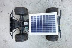 Vehículos teledirigidos, prototipos de la energía solar Imágenes de archivo libres de regalías