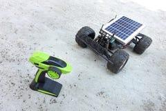 Vehículos teledirigidos, prototipos de la energía solar Imagen de archivo libre de regalías