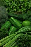 Vehículos verdes Fotografía de archivo