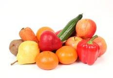 Vehículos y fruta Imagenes de archivo