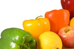 Vehículos y frutas Imagen de archivo libre de regalías