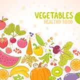 Vehículos y frutas Imagenes de archivo