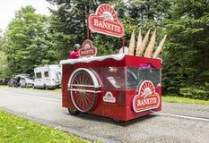 Vehículo de Banette - Tour de France 2014 Imágenes de archivo libres de regalías