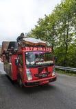 Vehículo de Courtepaille - Tour de France 2014 Imagenes de archivo