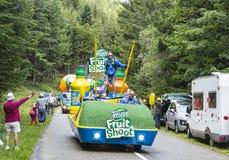 Vehículo de Teisseire durante el Tour de France 2014 del Le Fotos de archivo libres de regalías