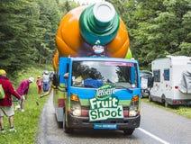 Vehículo de Teisseire durante el Tour de France 2014 del Le Imagen de archivo libre de regalías