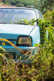 Vehicle abandoned to their fate. And overgrown Stock Photo