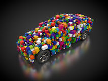 Vehicle with abstract carbody. 3D rendering: vehicle with abstract carbody Stock Photos