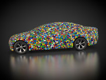 Vehicle with abstract carbody. 3D rendering: vehicle with abstract carbody Stock Image