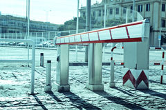 Vehicle access barrier. Royalty Free Stock Photo