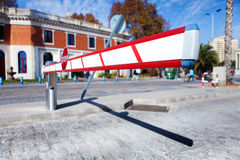 Vehicle access barrier. Stock Images