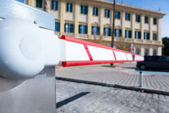 Vehicle access barrier. Royalty Free Stock Images