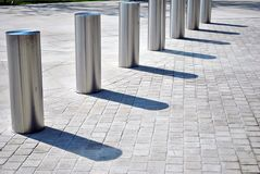 Vehicle access barrier.Perimeter access control for vehicles.  Stock Photos