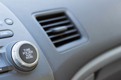 Vehicle Air Vent Opened on Passenger Side Showing Partial Dashbo Stock Photos