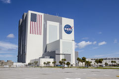 Vehicle Assembly Building. At NASA's Kennedy Space Center, which was first used to assemble the massive American Saturn V launch vehicles, on  Merritt Island Stock Photos