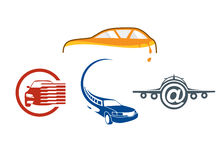 Vehicle auto logo template Stock Photo