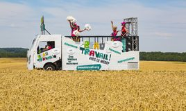 The Vehicle of Beau Travail - Tour de France 2017 stock photos