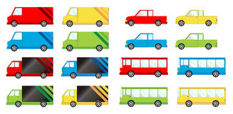 Vehicle big pack. Different color Royalty Free Stock Image