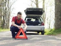 Vehicle breakdown man mechanic Stock Image