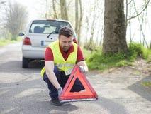 Vehicle breakdown man mechanic Royalty Free Stock Photo
