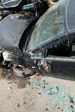 Vehicle broken during road accident Stock Image