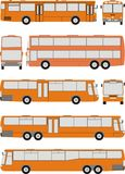 Vehicle Bus, vector illustration. Vehicle bus shapes, car isolated silhouette on white background Royalty Free Stock Photo