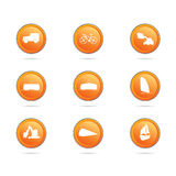 Vehicle button color vector illustration Stock Photography