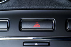 Vehicle, car hazard warning flashers button with visible red tri royalty free stock photos