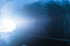 Vehicle Car Headlights in Fog Royalty Free Stock Image