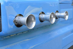 Vehicle carburetor air intakes. Royalty Free Stock Photography
