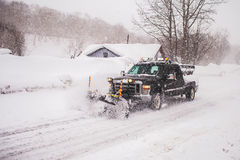 The vehicle for clearing roads of snow Stock Photography