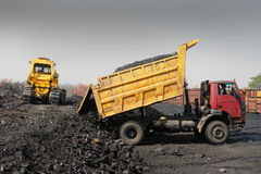 Vehicle At Coalmines Stock Images