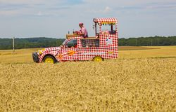 The Vehicle of Cochonou - Tour de France 2017 royalty free stock photo