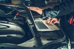 Vehicle Computer Checkup royalty free stock photo