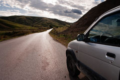 Vehicle on country road Royalty Free Stock Photos