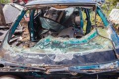 Vehicle Crash Windscreen  Stock Photography