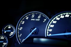 Vehicle Dash Instruments Stock Image