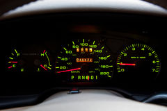 Vehicle Dashboard Stock Image