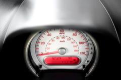 Vehicle dashboard gauge - speedometer - speed in mph. Car stock photos