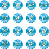 Vehicle dealership icon set Royalty Free Stock Image