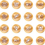 Vehicle dealership icon set Stock Image