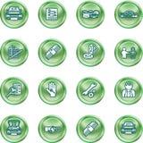 Vehicle dealership icon set Royalty Free Stock Images