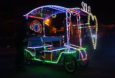Vehicle with decorative lights Royalty Free Stock Photo