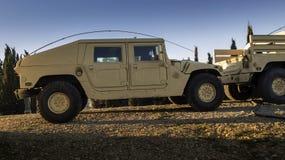Vehicle designed for war (Humvee). All-terrain vehicle designed for war (Humvee royalty free stock image