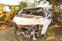 vehicle destroyed in an accident Stock Images