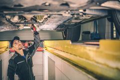 Vehicle Diagnostic Station stock photography